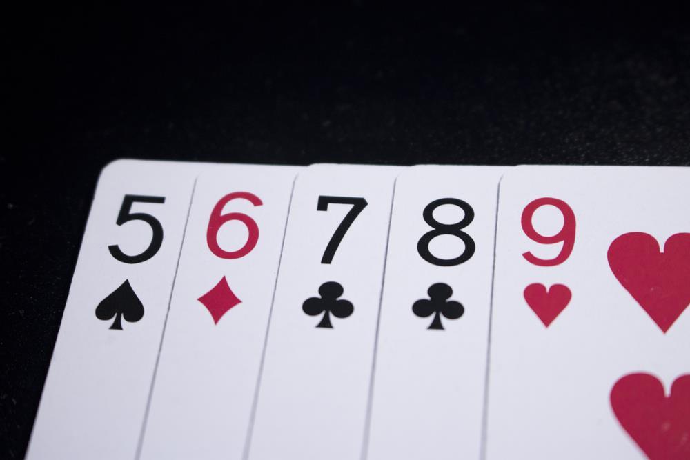 Straight Poker Hand